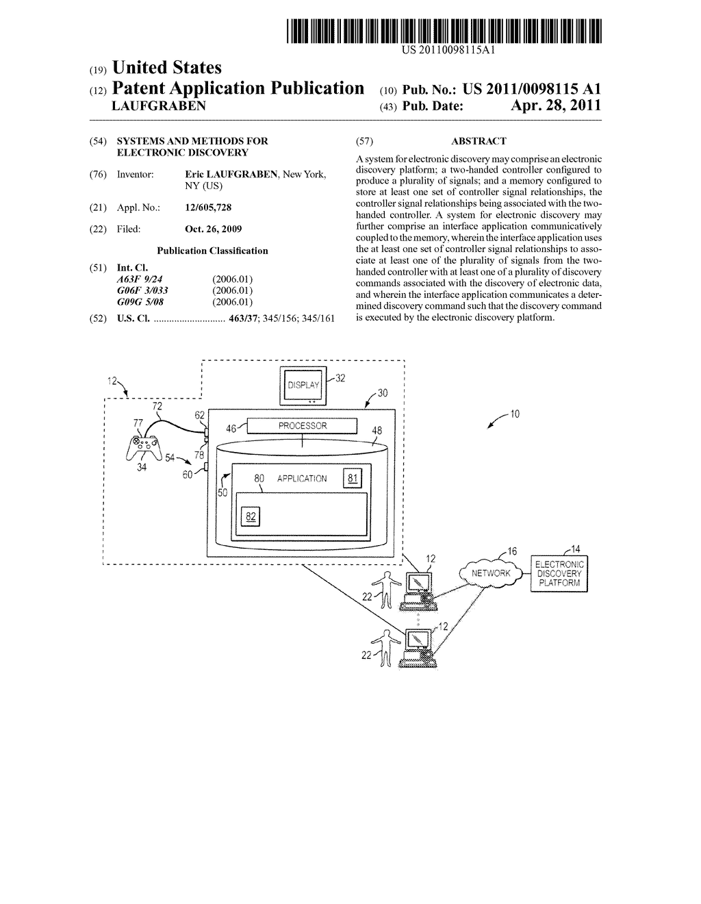 SYSTEMS AND METHODS FOR ELECTRONIC DISCOVERY - diagram, schematic, and image 01