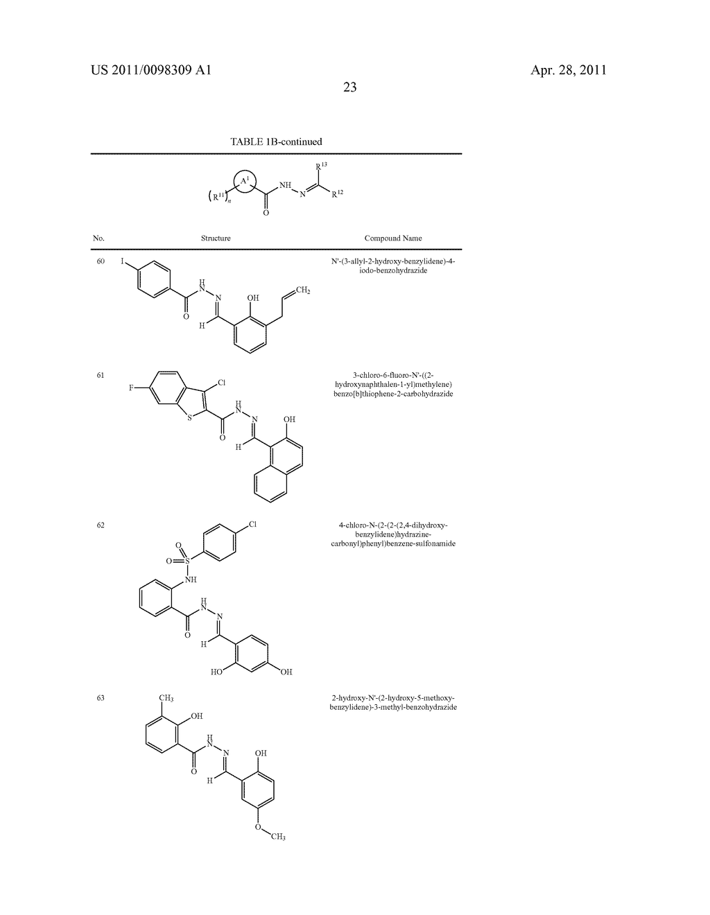 METHODS OF INHIBITING THE FORMATION OF AMYLOID-BETA DIFFUSABLE LIGANDS USING ACYLHYDRAZIDE COMPOUNDS - diagram, schematic, and image 24