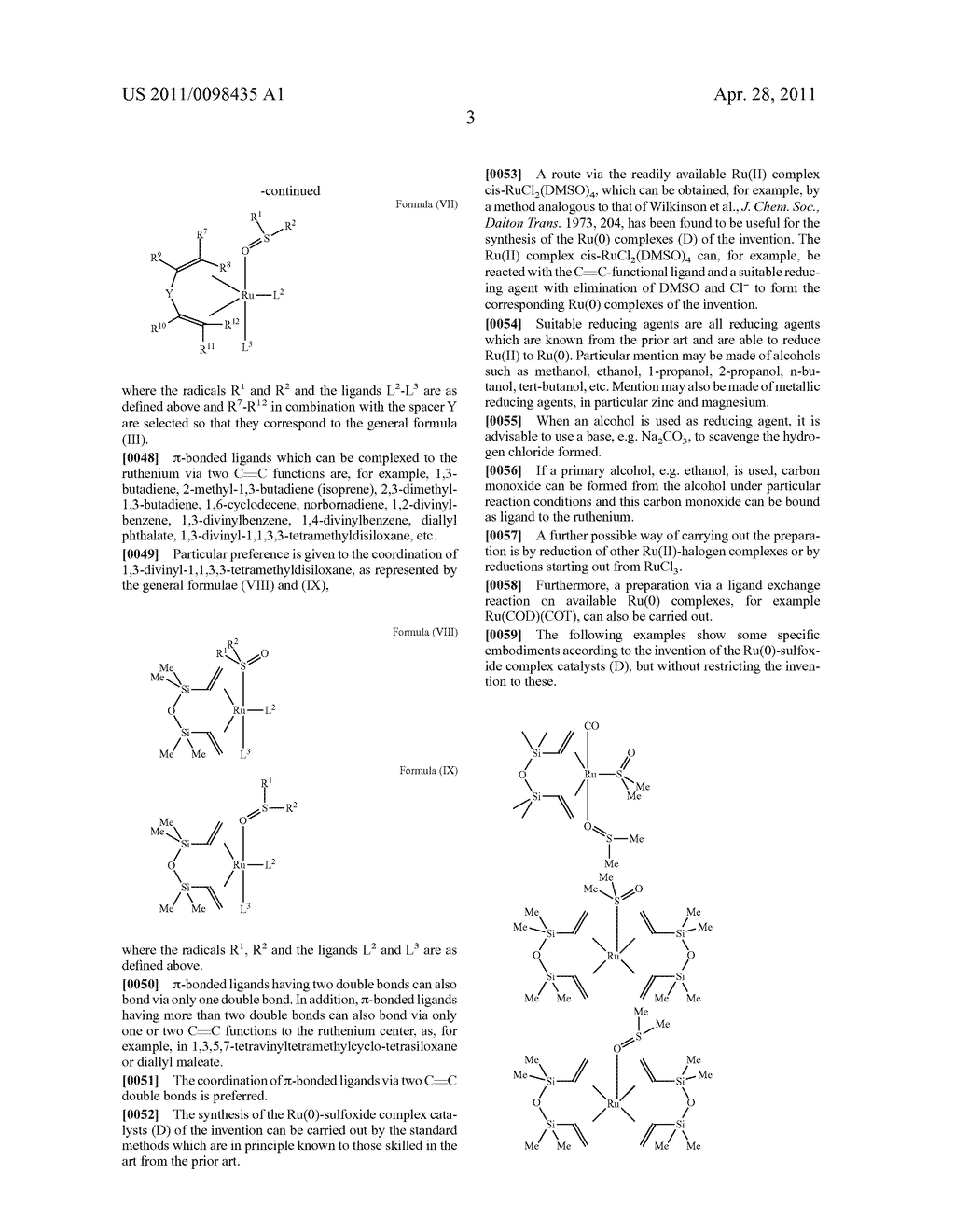 RU SULFOXIDE COMPLEXES, THEIR PREPARATION AND USE - diagram, schematic, and image 04