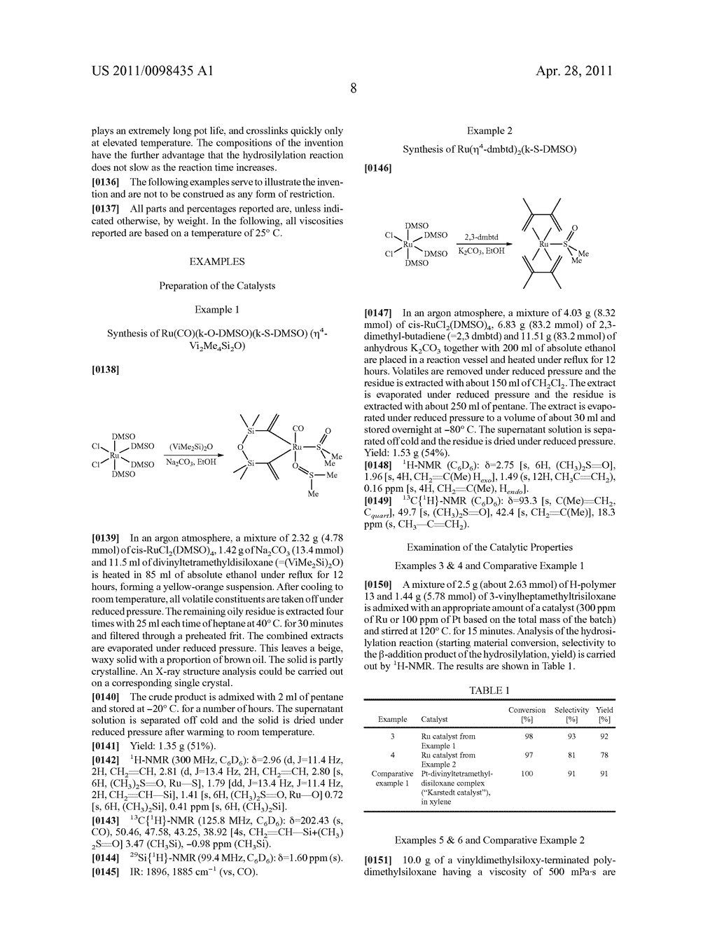 RU SULFOXIDE COMPLEXES, THEIR PREPARATION AND USE - diagram, schematic, and image 09