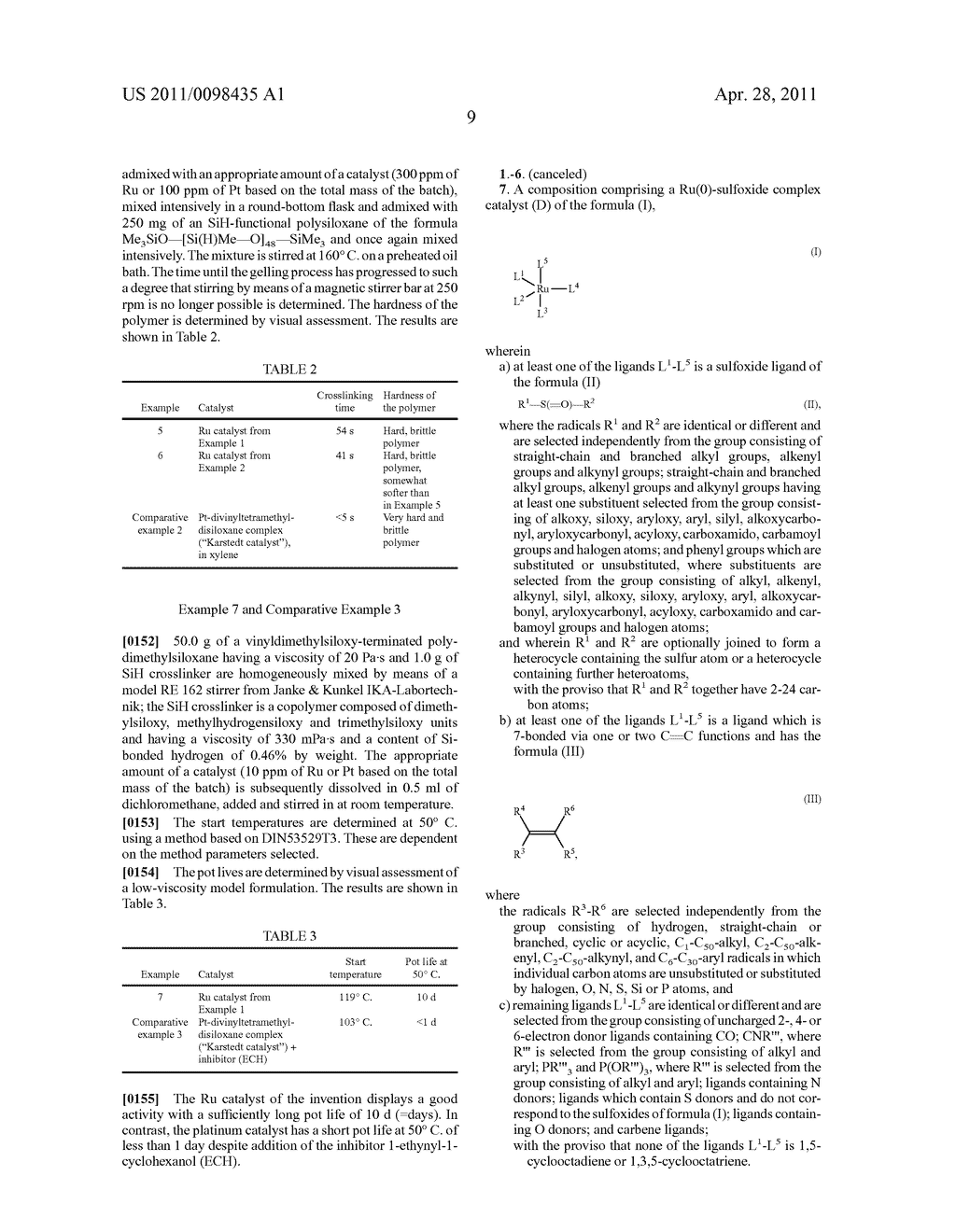 RU SULFOXIDE COMPLEXES, THEIR PREPARATION AND USE - diagram, schematic, and image 10