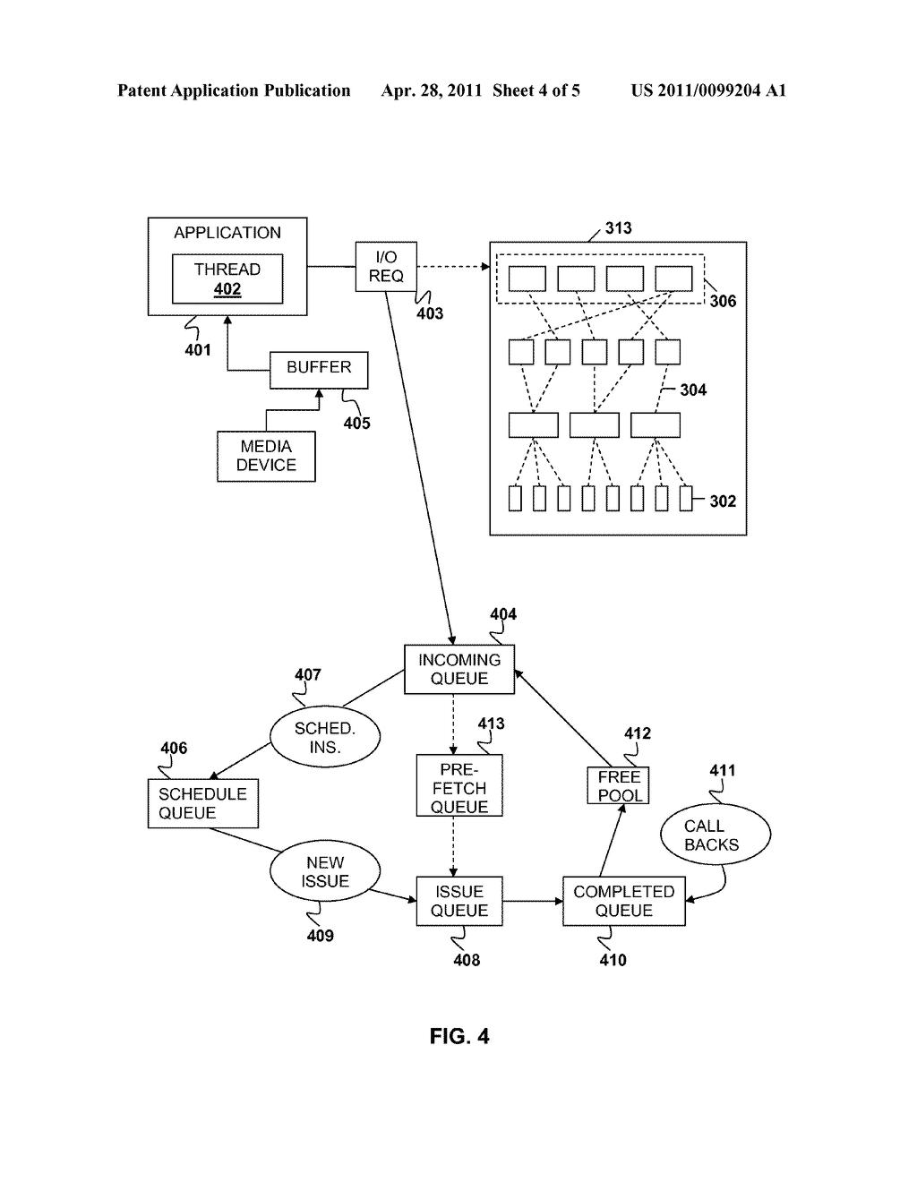 FILE INPUT/OUTPUT SCHEDULER USING IMMEDIATE DATA CHUNKING - diagram