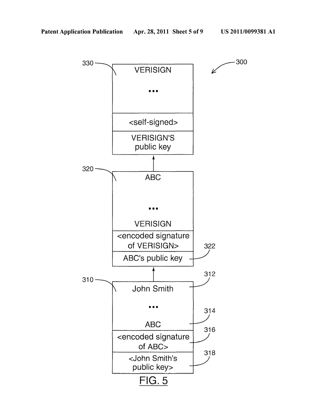 SYSTEM AND METHOD FOR RETRIEVING CERTIFICATES ASSOCIATED WITH SENDERS OF DIGITALLY SIGNED MESSAGES - diagram, schematic, and image 06