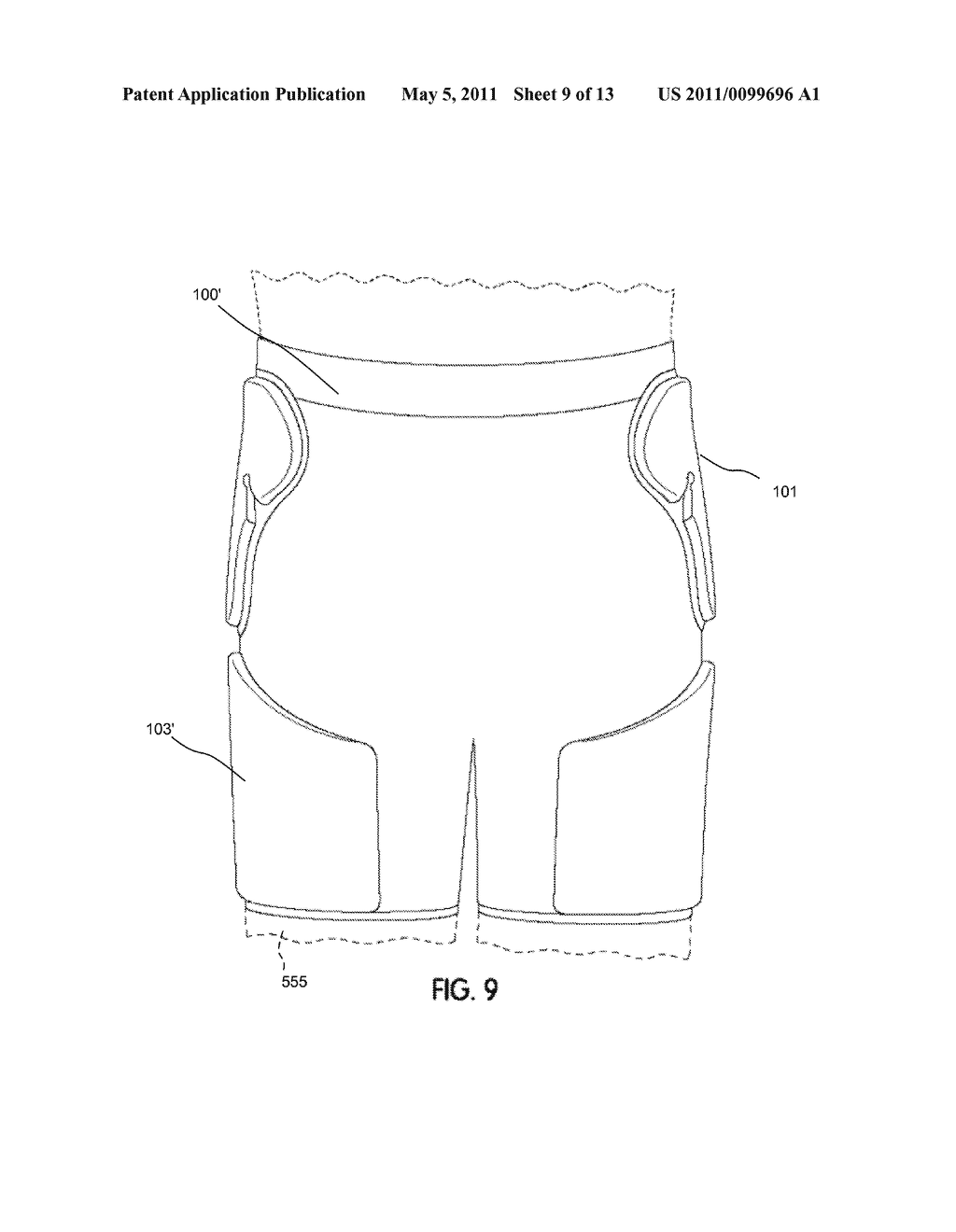 Athletic Garment with Articulated Body Protective Underlayer - diagram, schematic, and image 10