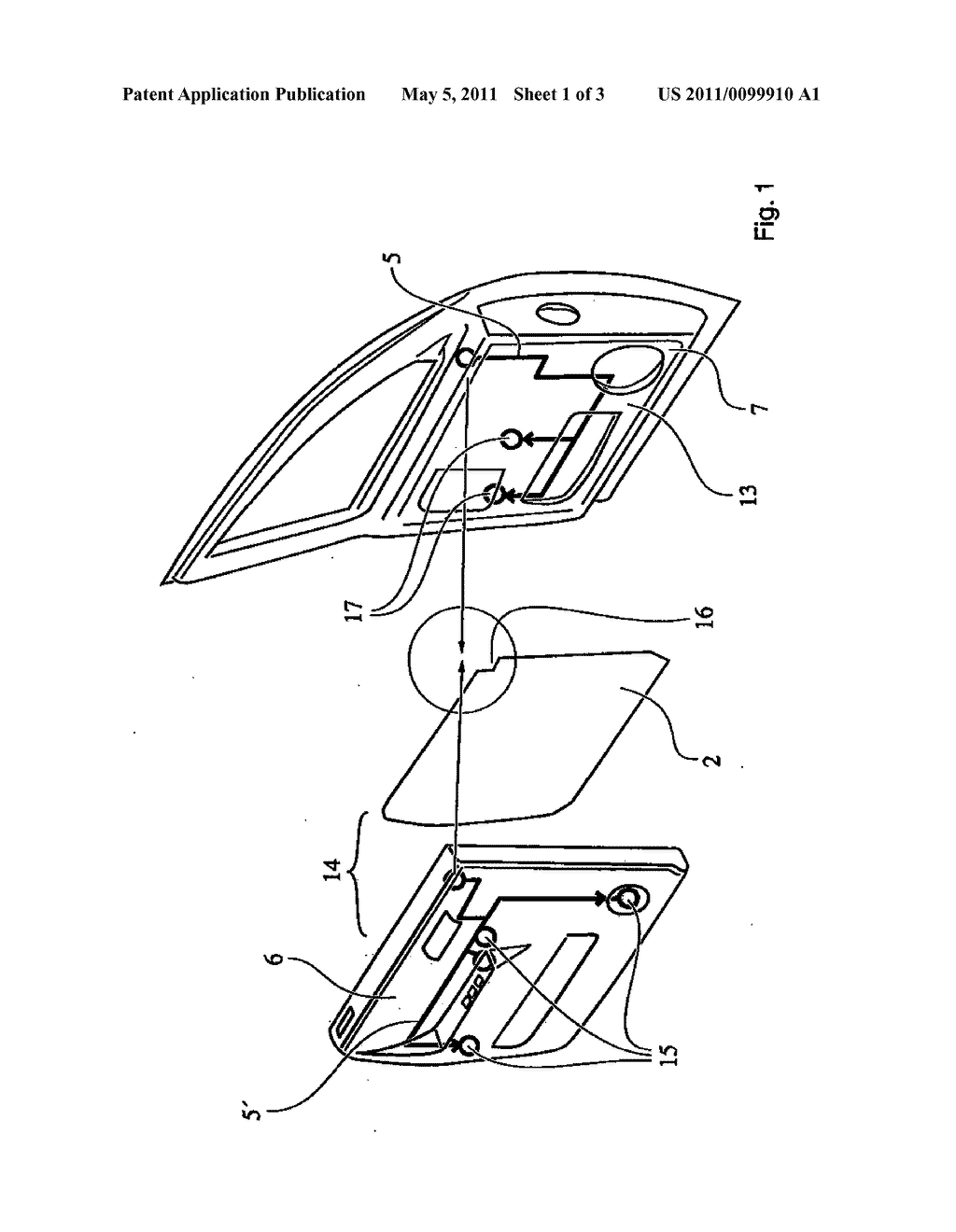 VEHICLE DOOR HAVING A SEALING PLANE AND HAVING A SEALING ELEMENT WHOSE ENDS OVERLAP - diagram, schematic, and image 02
