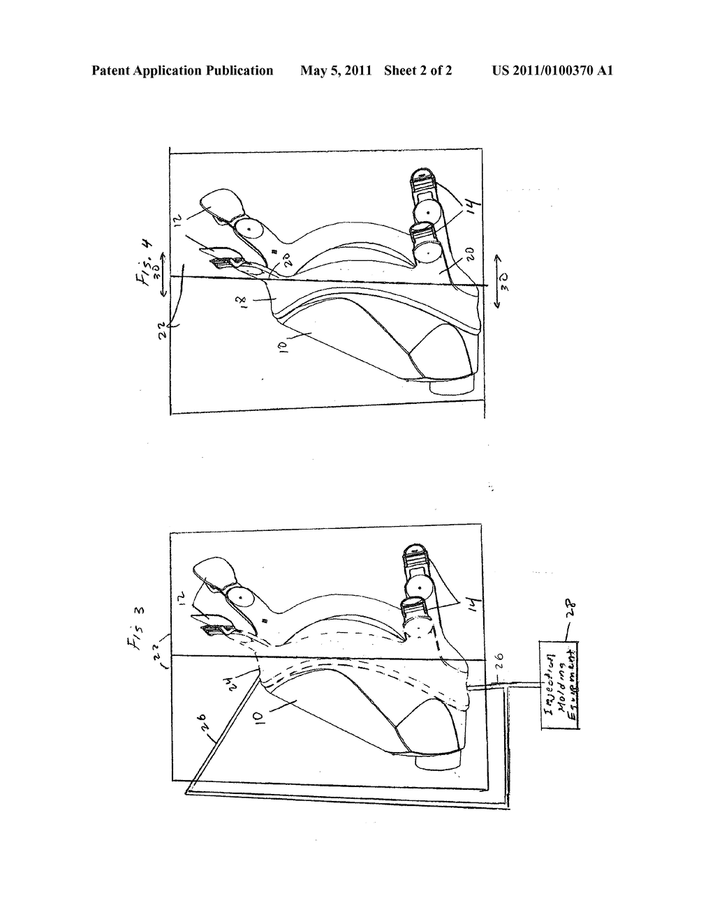 Overmolding buckles at the same time as overmolding a lens respirator - diagram, schematic, and image 03