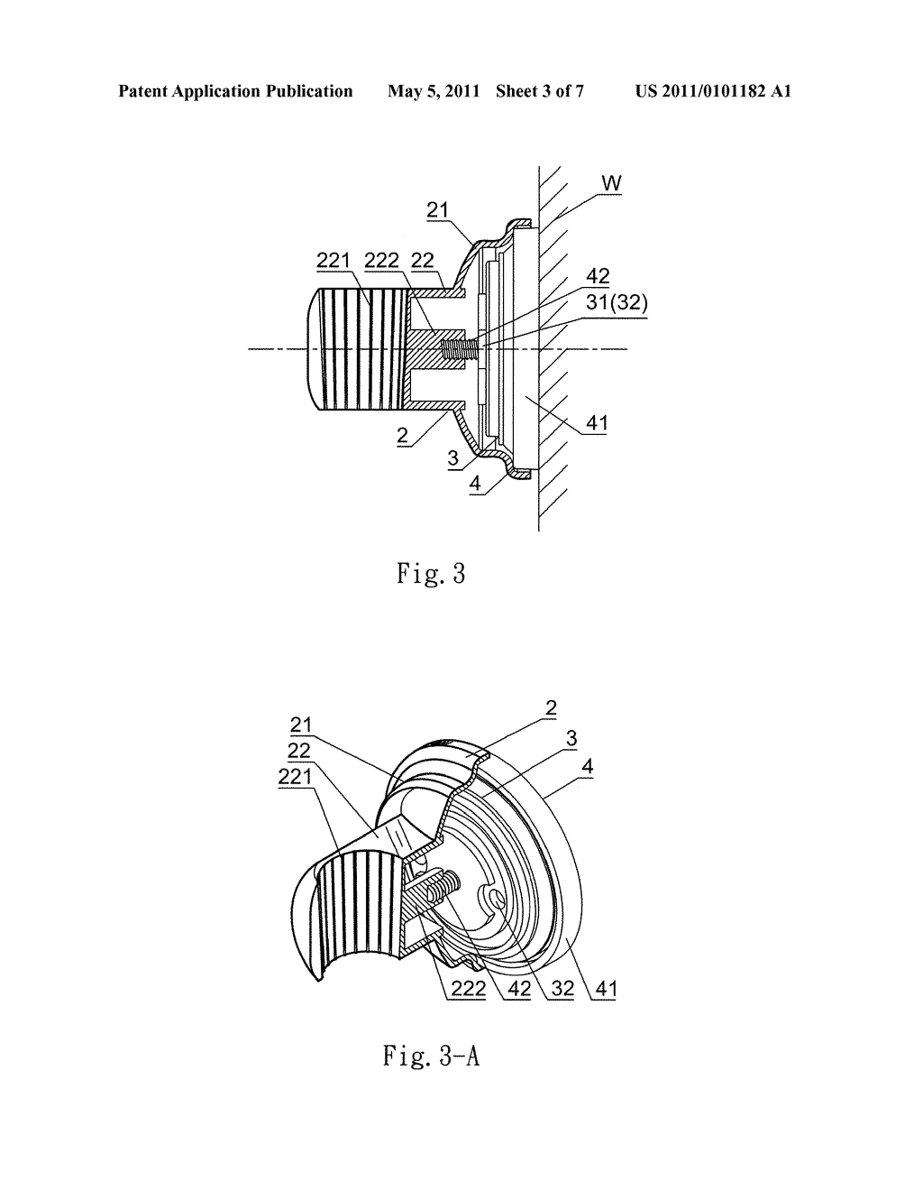 Holding Device For Hand Held Shower Head Diagram