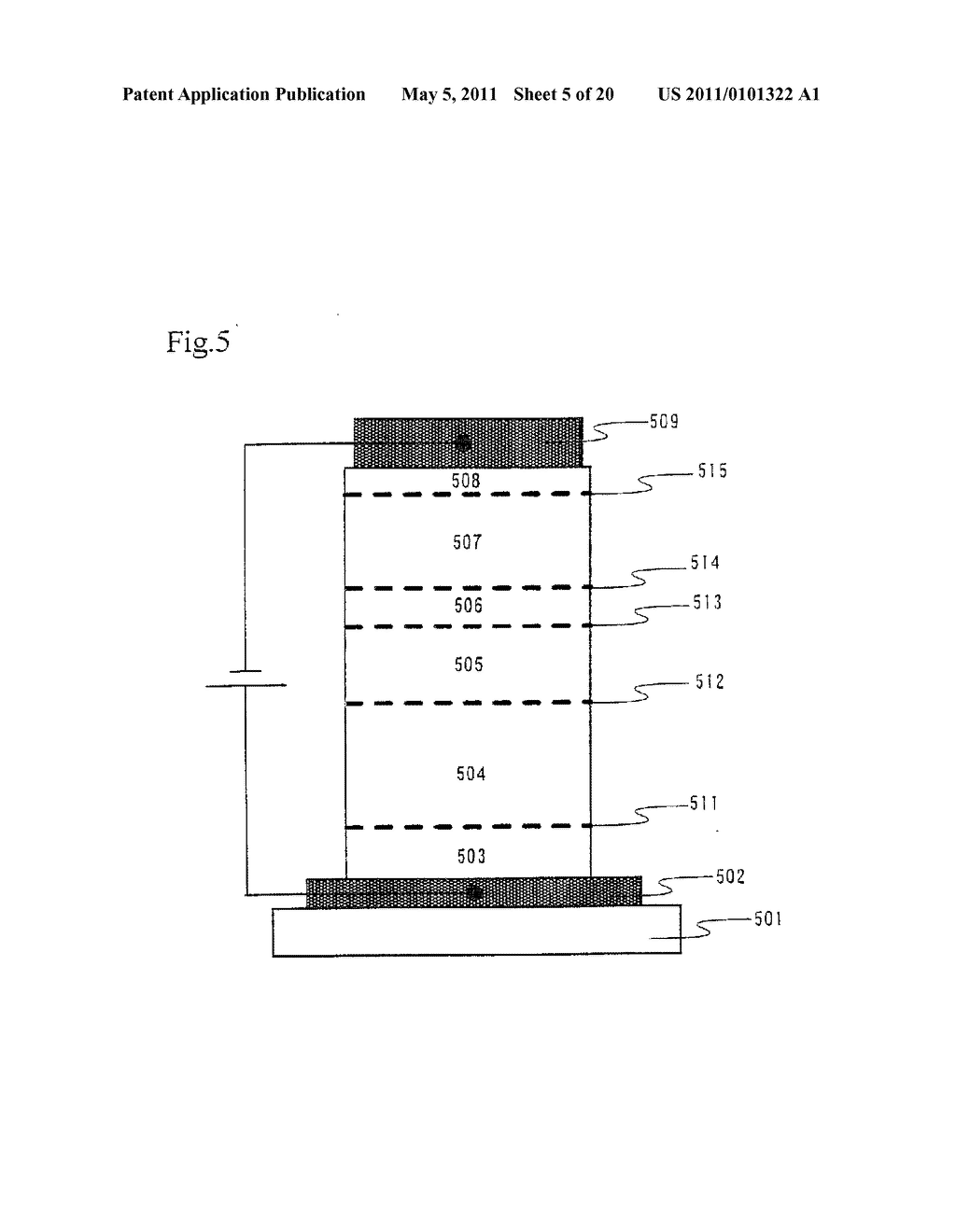 Organic Light Emitting Element and Display Device Using the Element - diagram, schematic, and image 06