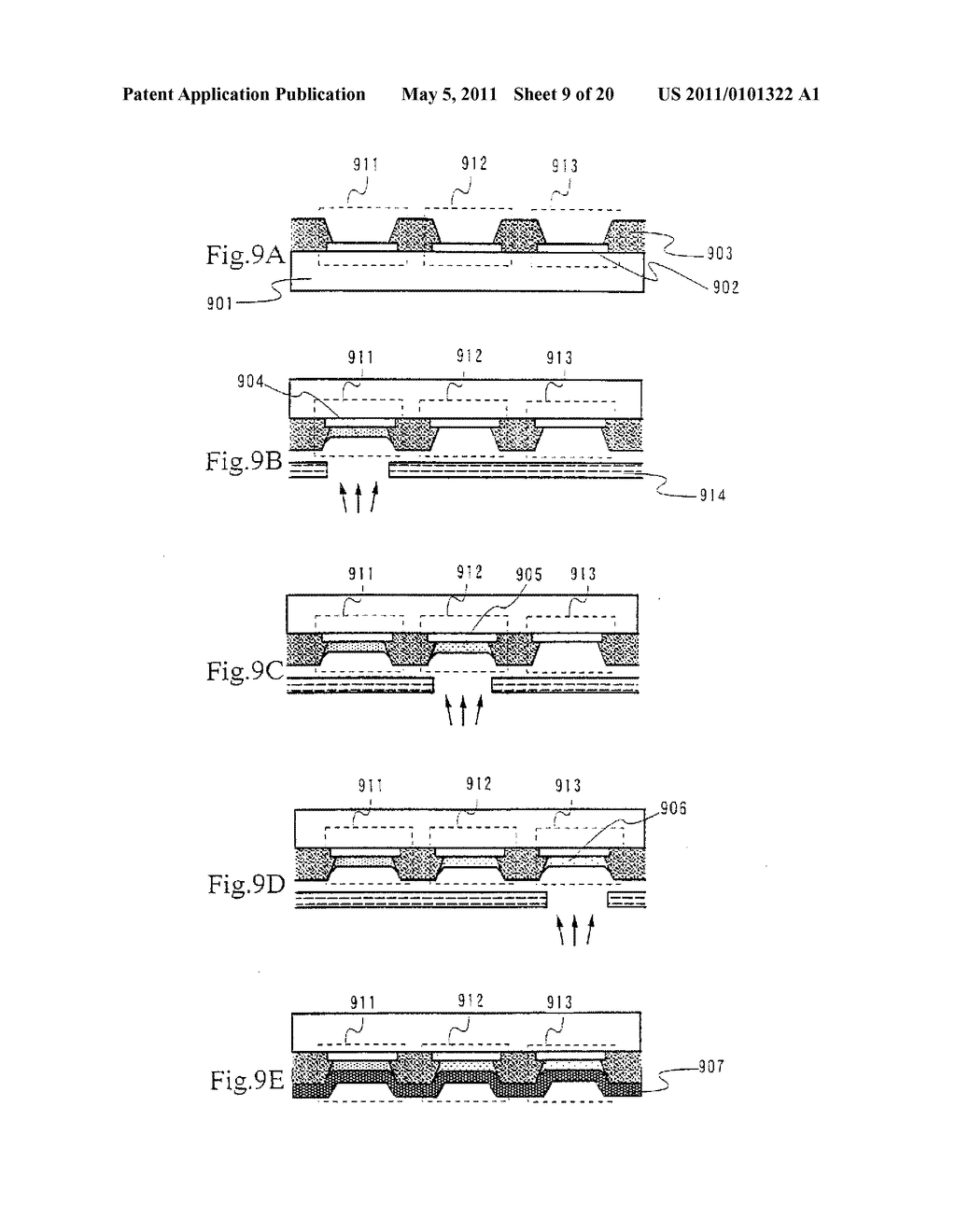 Organic Light Emitting Element and Display Device Using the Element - diagram, schematic, and image 10
