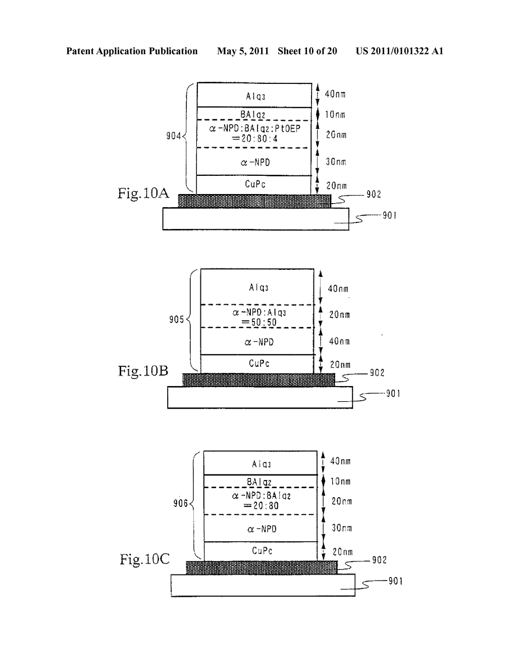 Organic Light Emitting Element and Display Device Using the Element - diagram, schematic, and image 11