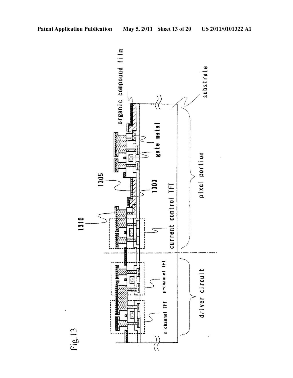 Organic Light Emitting Element and Display Device Using the Element - diagram, schematic, and image 14
