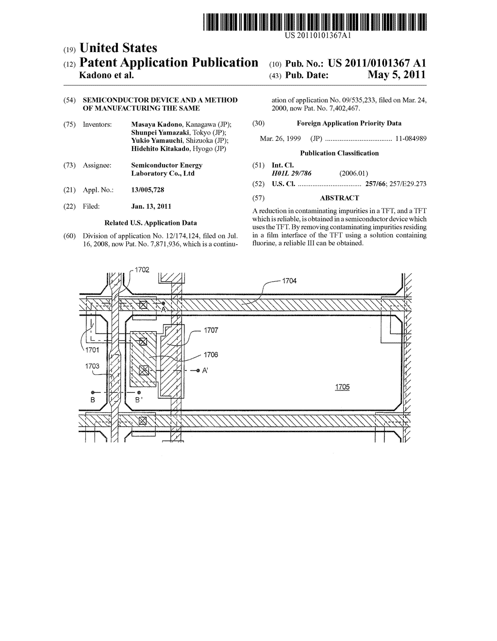 Semiconductor Device and A Method of Manufacturing the Same - diagram, schematic, and image 01