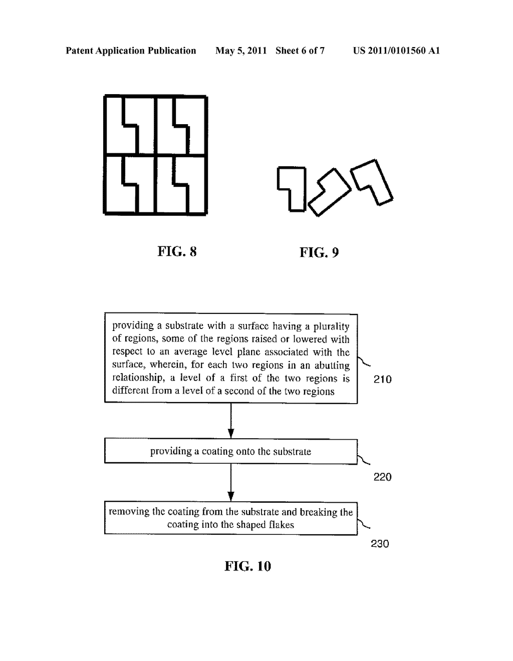 SUBSTRATE AND METHOD OF MANUFACTURING POLYGON FLAKES - diagram, schematic, and image 07