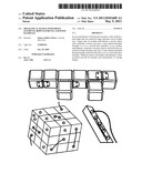 Mechanical puzzle with hinge elements, rope elements, and knot elements diagram and image