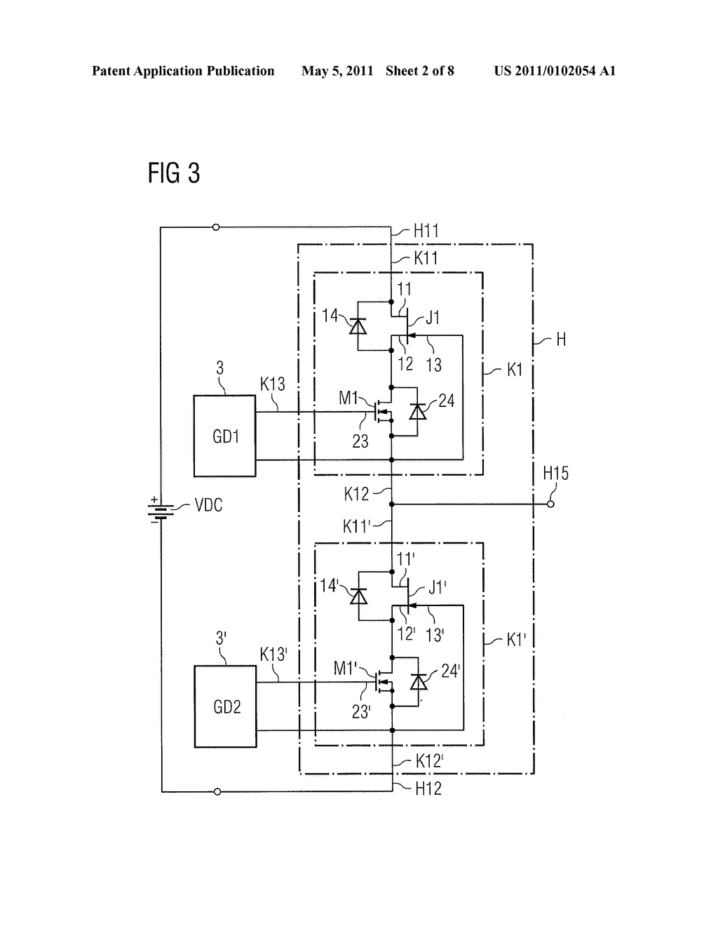 POWER SEMICONDUCTOR MODULE AND METHOD FOR OPERATING A POWER SEMICONDUCTOR MODULE - diagram, schematic, and image 03