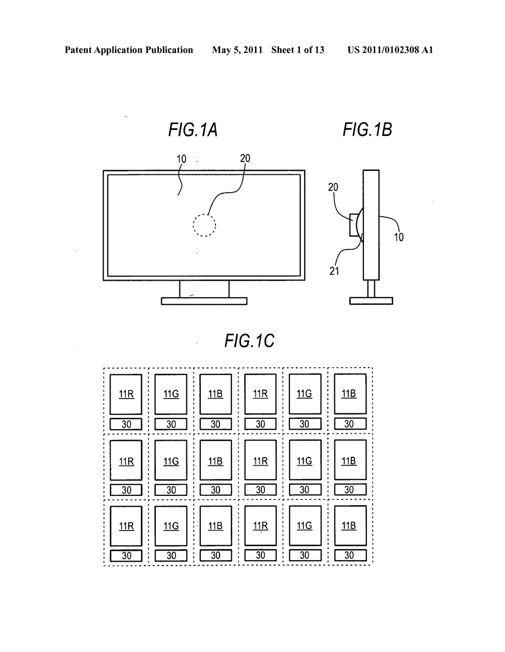 Image display device with imaging unit - diagram, schematic, and image 02