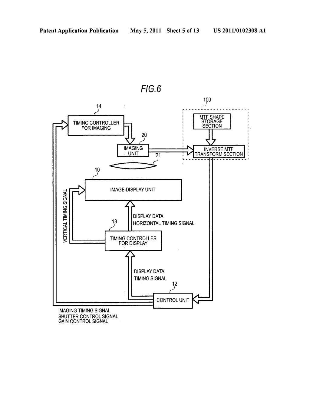 Image display device with imaging unit - diagram, schematic, and image 06