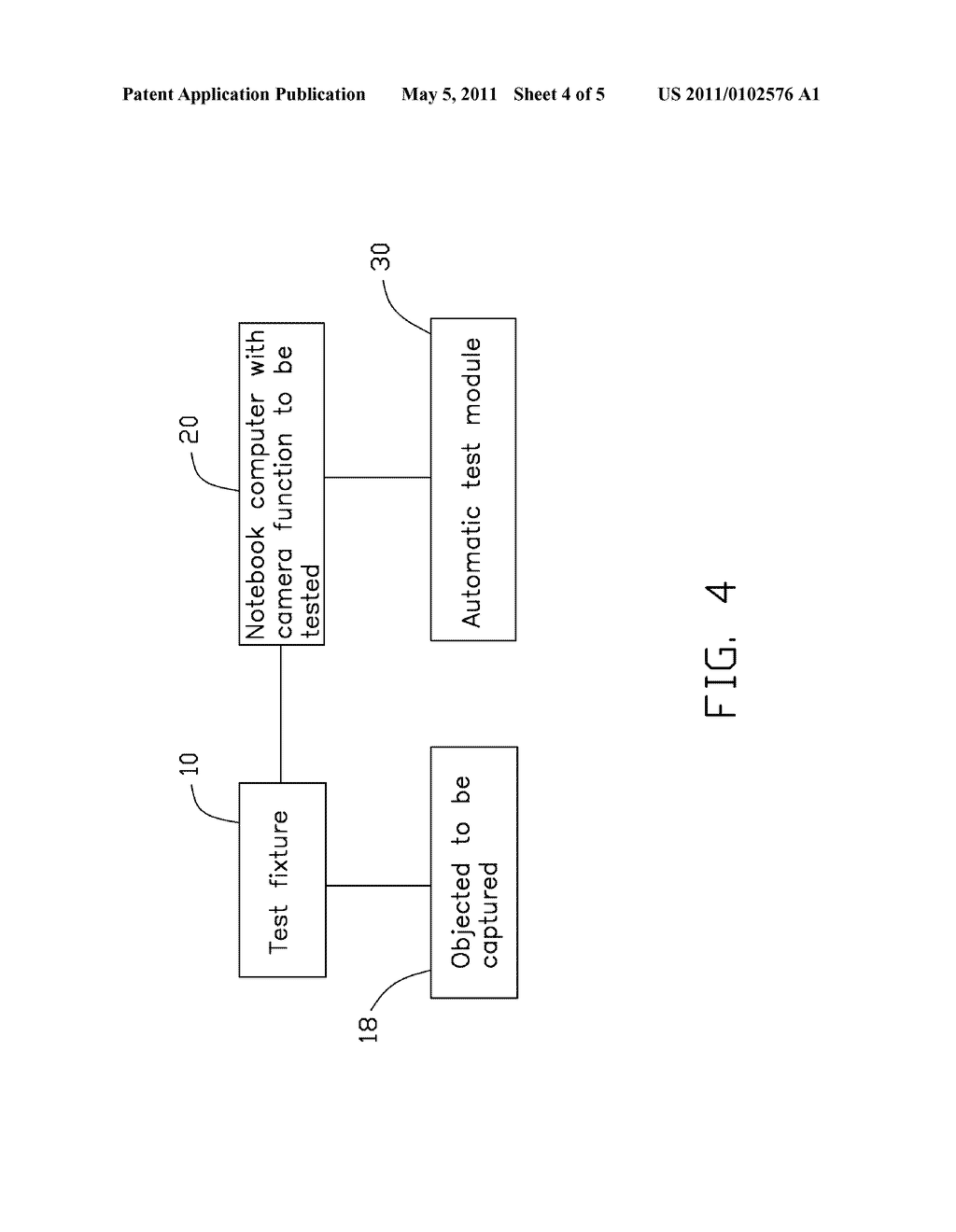 SYSTEM AND METHOD FOR TESTING IMAGE CAPTURING FUNCTION OF AN ELECTRONIC DEVICE - diagram, schematic, and image 05