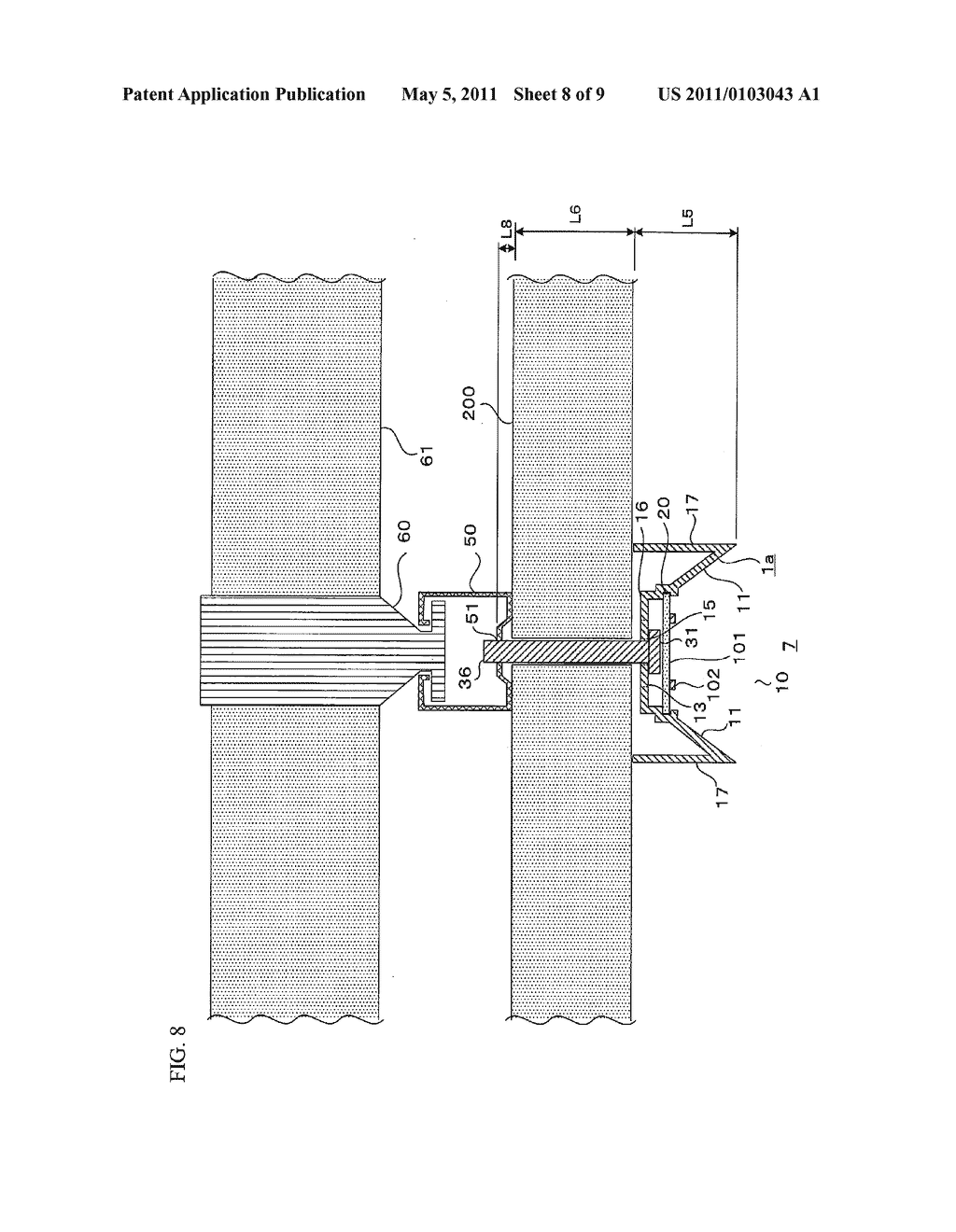 Device for Supporting Light Emitting Module - diagram, schematic, and image 09
