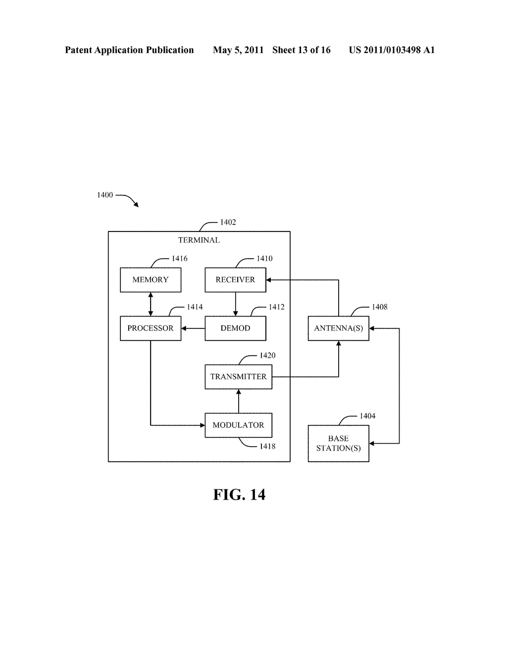 METHOD AND APPARATUS FOR CONTROL AND DATA MULTIPLEXING IN A MIMO COMMUNICATION SYSTEM - diagram, schematic, and image 14