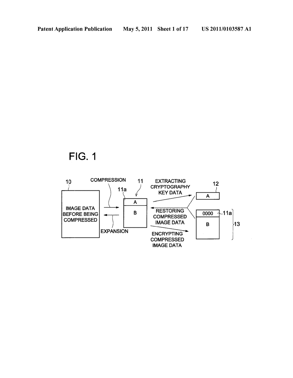 DATA CONCEALING APPARATUS, DATA DECRYPTION APPARATUS AND IMAGE FORMING APPARATUS HAVING DATA ENCRYPTING FUNCTION - diagram, schematic, and image 02