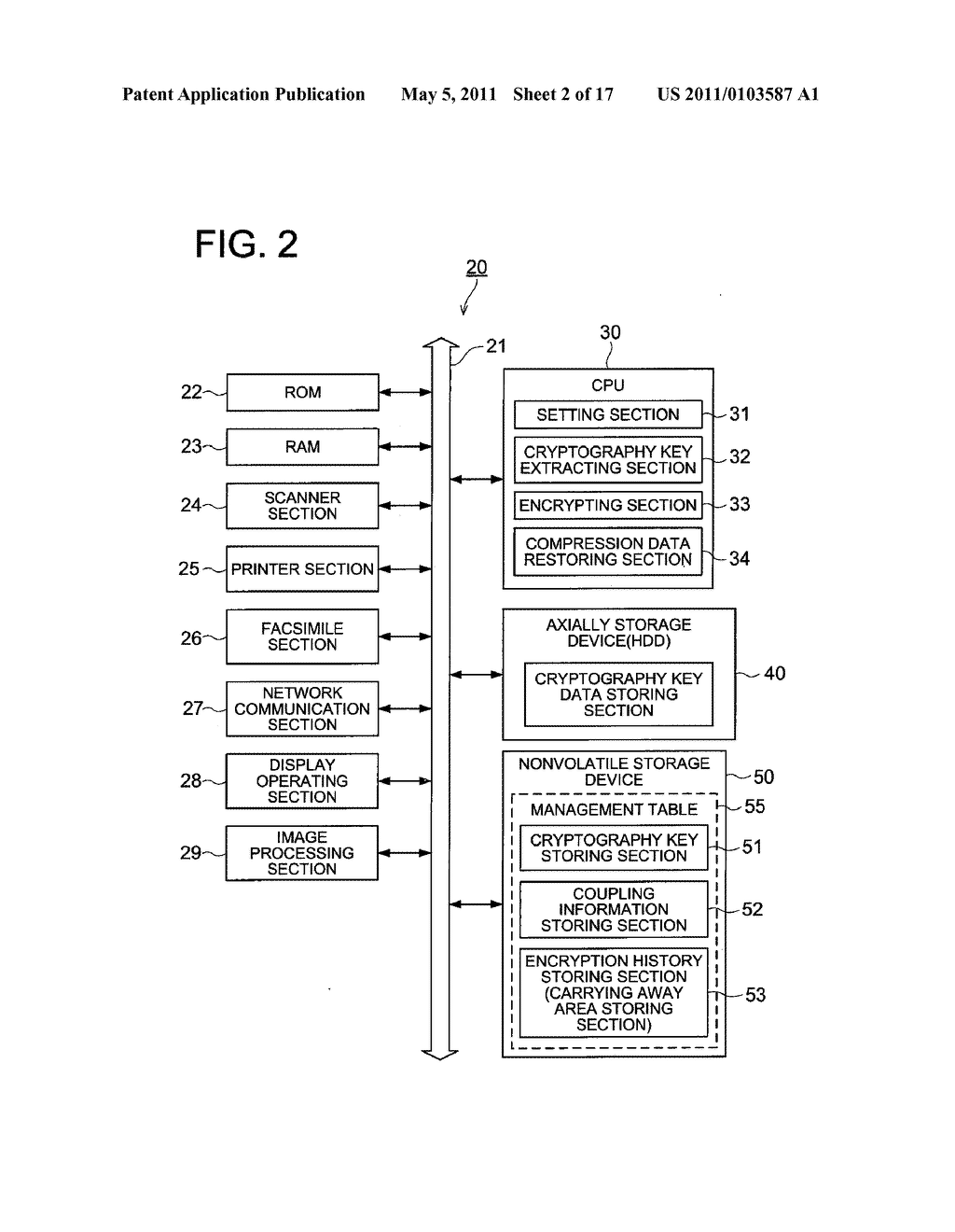 DATA CONCEALING APPARATUS, DATA DECRYPTION APPARATUS AND IMAGE FORMING APPARATUS HAVING DATA ENCRYPTING FUNCTION - diagram, schematic, and image 03