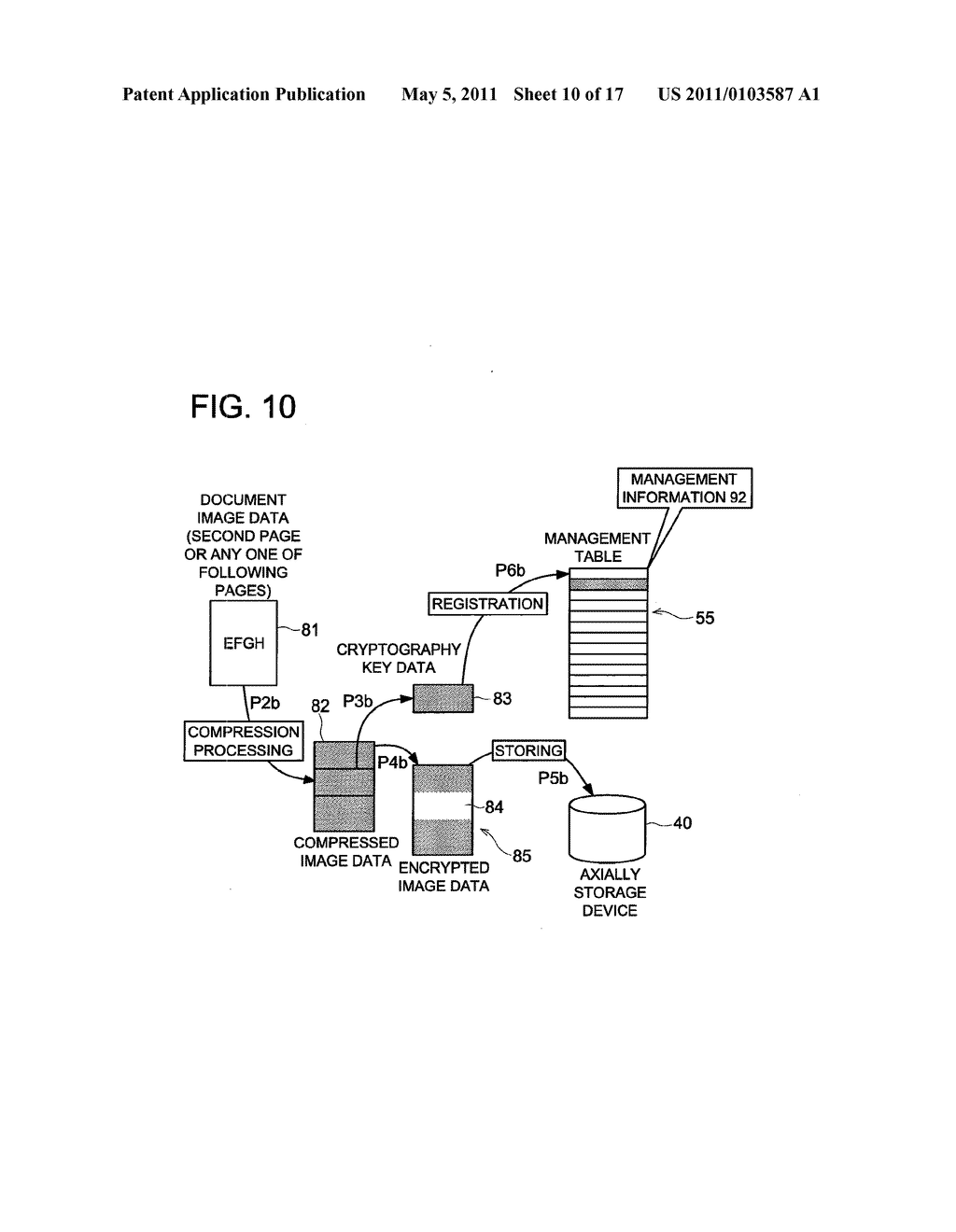 DATA CONCEALING APPARATUS, DATA DECRYPTION APPARATUS AND IMAGE FORMING APPARATUS HAVING DATA ENCRYPTING FUNCTION - diagram, schematic, and image 11