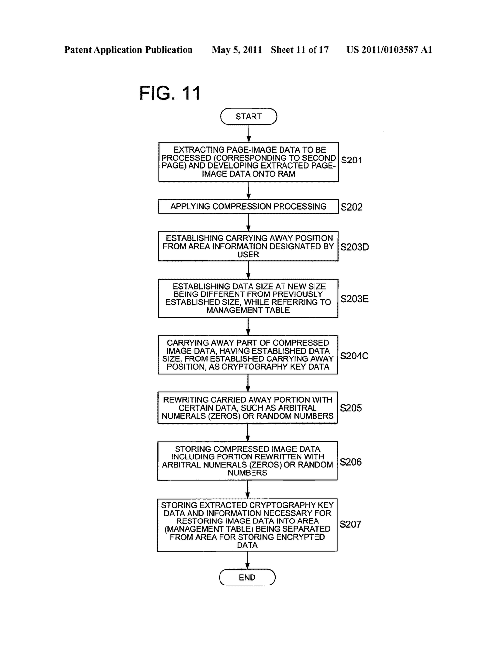 DATA CONCEALING APPARATUS, DATA DECRYPTION APPARATUS AND IMAGE FORMING APPARATUS HAVING DATA ENCRYPTING FUNCTION - diagram, schematic, and image 12