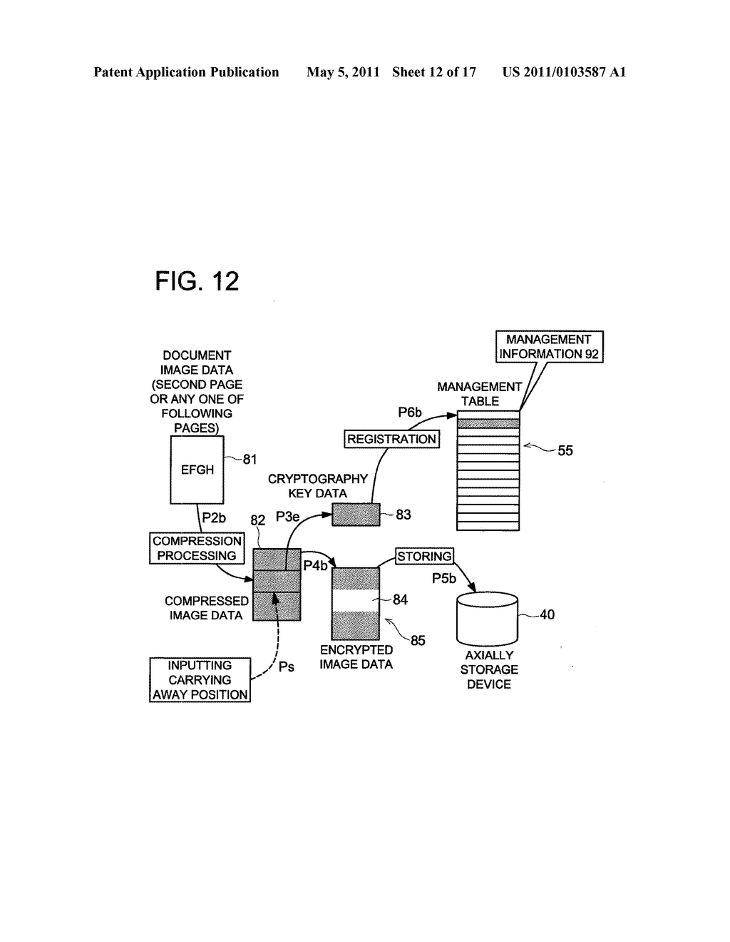 DATA CONCEALING APPARATUS, DATA DECRYPTION APPARATUS AND IMAGE FORMING APPARATUS HAVING DATA ENCRYPTING FUNCTION - diagram, schematic, and image 13