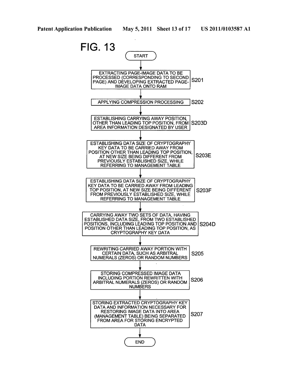 DATA CONCEALING APPARATUS, DATA DECRYPTION APPARATUS AND IMAGE FORMING APPARATUS HAVING DATA ENCRYPTING FUNCTION - diagram, schematic, and image 14