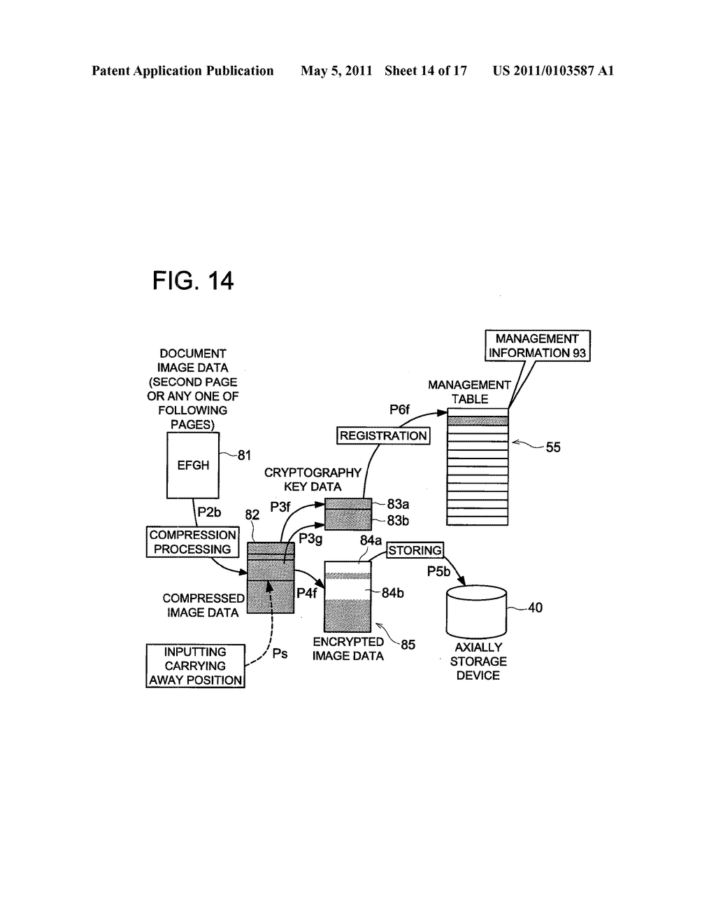 DATA CONCEALING APPARATUS, DATA DECRYPTION APPARATUS AND IMAGE FORMING APPARATUS HAVING DATA ENCRYPTING FUNCTION - diagram, schematic, and image 15