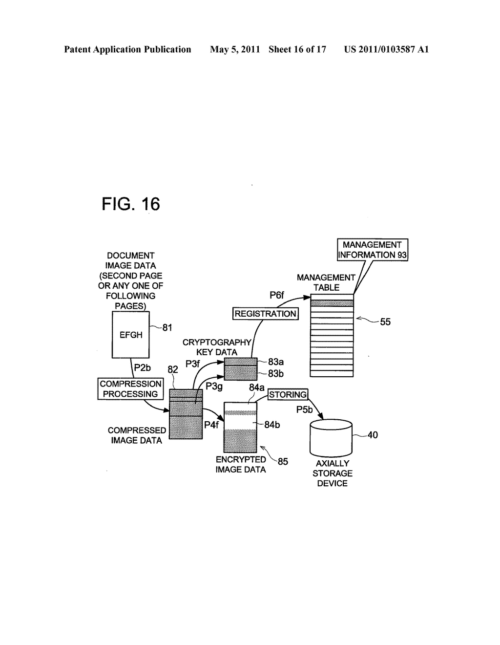 DATA CONCEALING APPARATUS, DATA DECRYPTION APPARATUS AND IMAGE FORMING APPARATUS HAVING DATA ENCRYPTING FUNCTION - diagram, schematic, and image 17