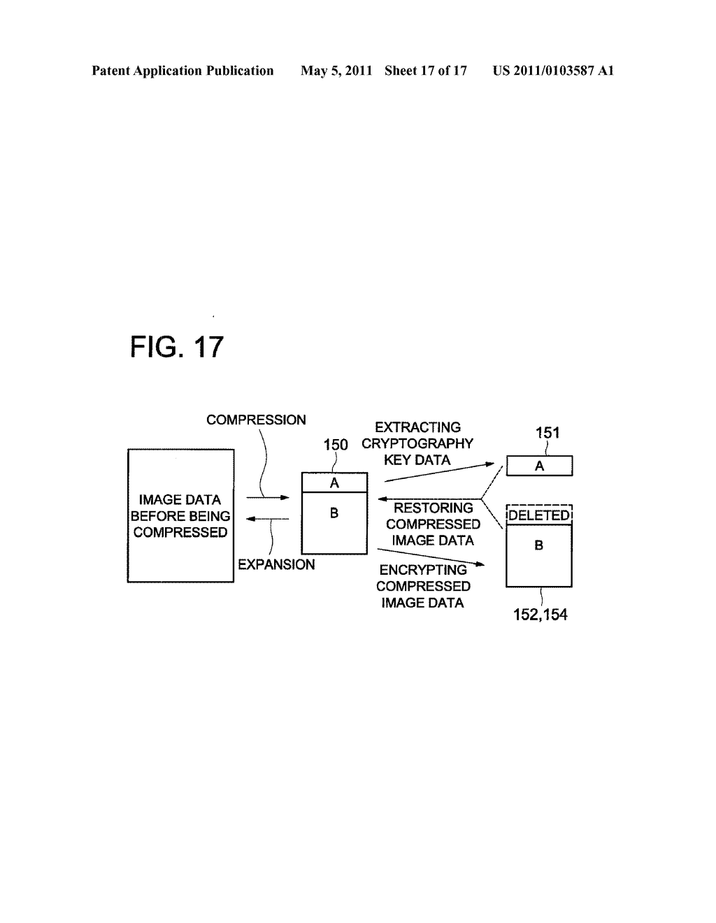 DATA CONCEALING APPARATUS, DATA DECRYPTION APPARATUS AND IMAGE FORMING APPARATUS HAVING DATA ENCRYPTING FUNCTION - diagram, schematic, and image 18