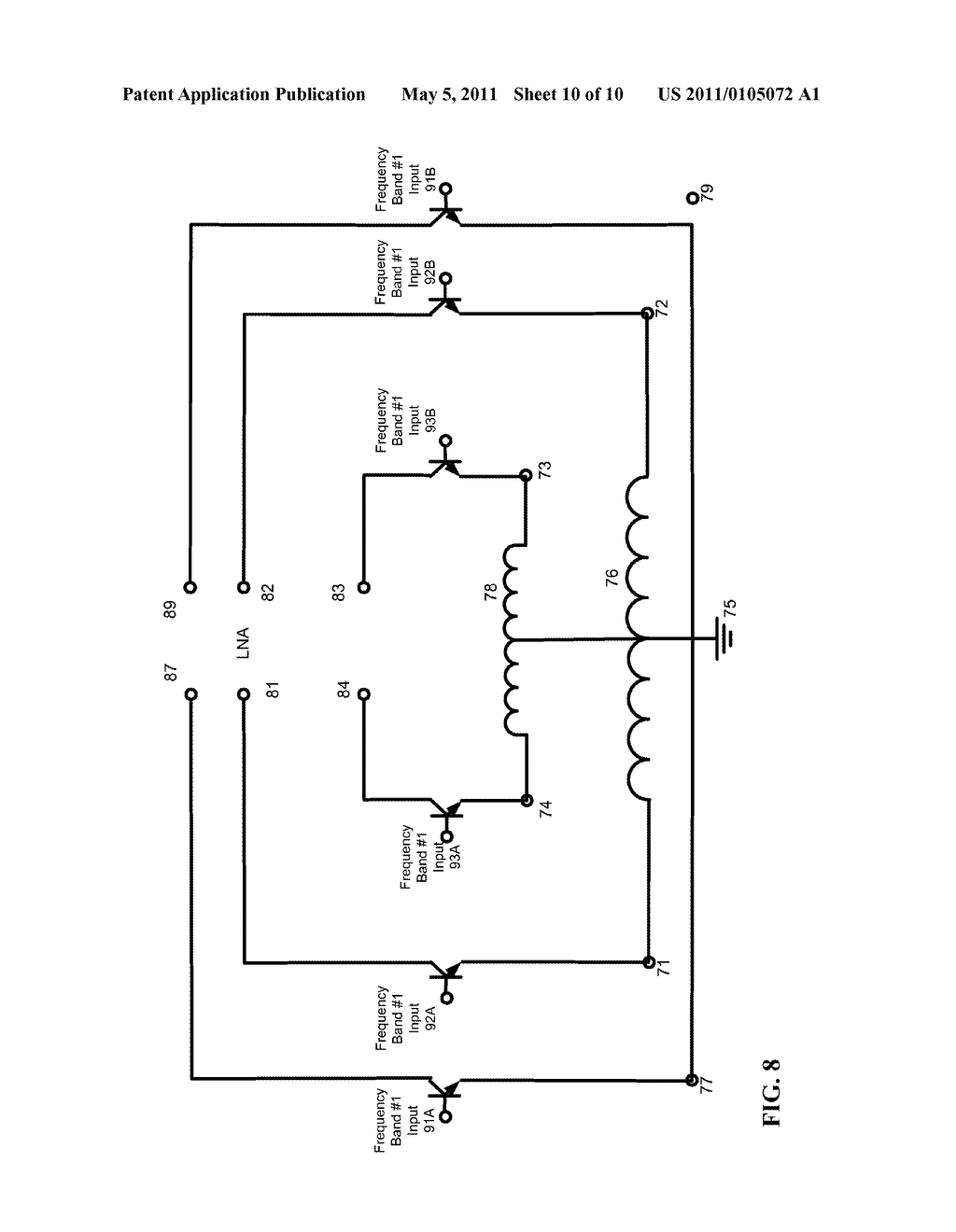 Dual Inductor Circuit For Multi Band Wireless Communication Device Diagram Schematic And Image 11