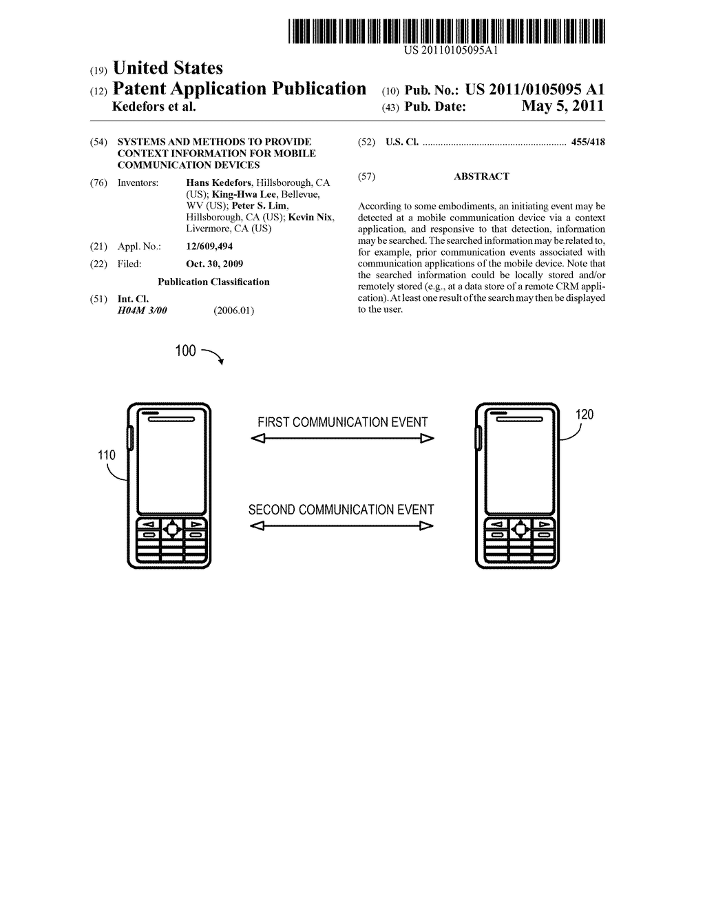 SYSTEMS AND METHODS TO PROVIDE CONTEXT INFORMATION FOR MOBILE COMMUNICATION DEVICES - diagram, schematic, and image 01