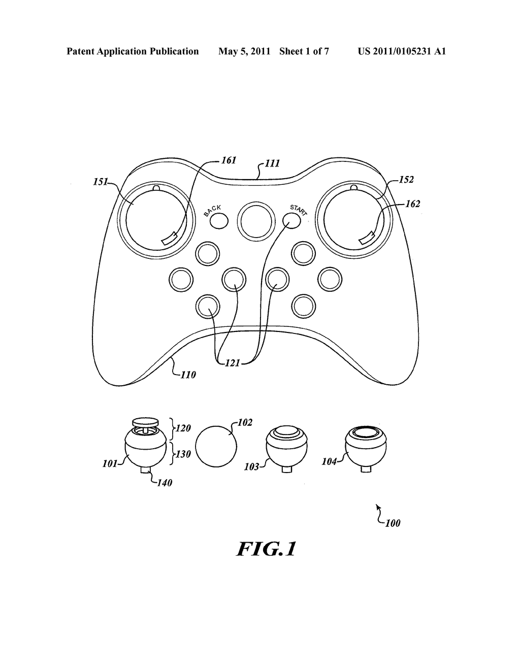 VIDEO GAME CONTROLLER HAVING USER SWAPPABLE CONTROL COMPONENTS - diagram, schematic, and image 02