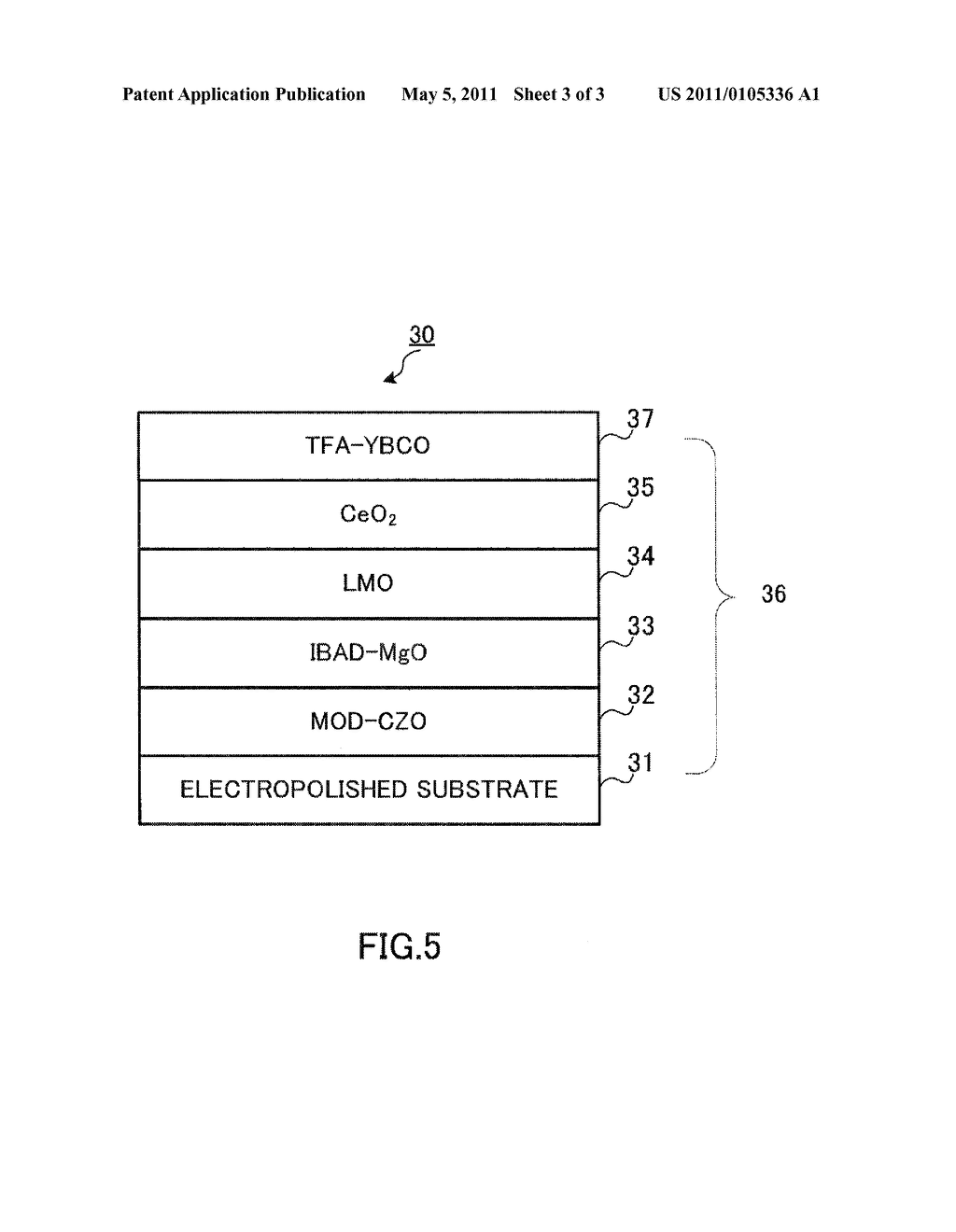 RARE EARTH ELEMENT OXIDE SUPERCONDUCTIVE WIRE MATERIAL AND METHOD OF PRODUCING THE SAME - diagram, schematic, and image 04