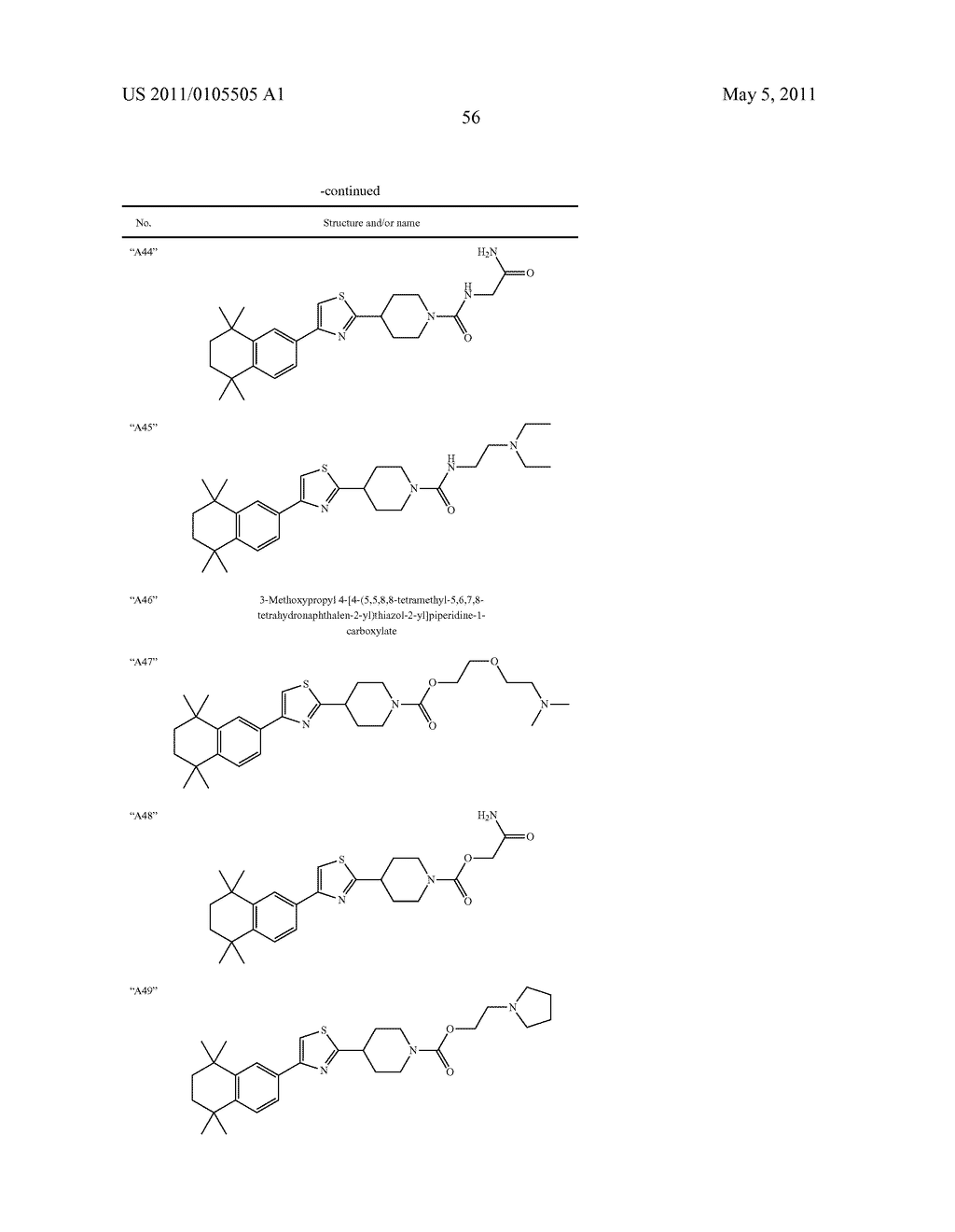 THIAZOLYL PIPERIDINE DERIVATIVES - diagram, schematic, and image 57
