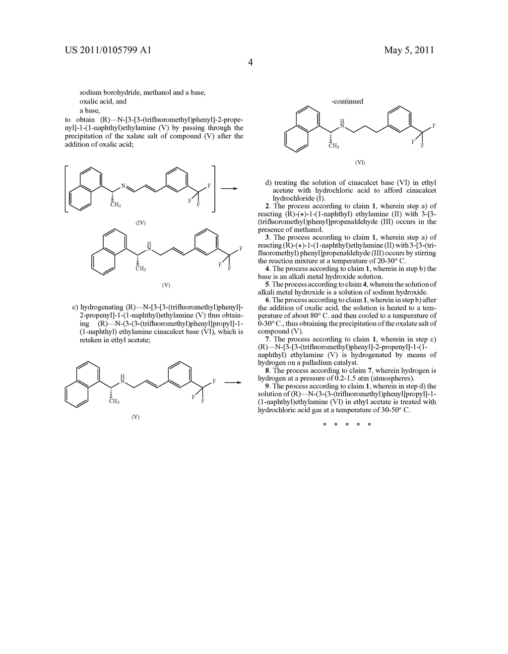 PROCESS FOR THE SYNTHESIS OF CINACALCET HYDROCHLORIDE - diagram, schematic, and image 05