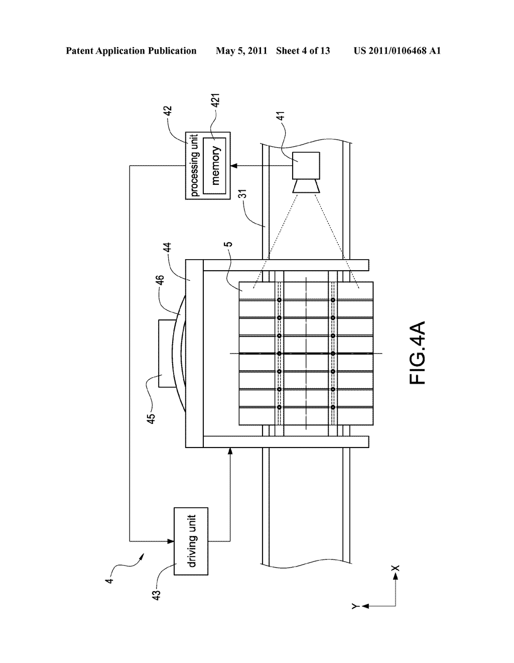 LOCATION-ADJUSTING INSPECTING APPARATUS AND METHOD FOR A SOLAR BATTERY PANEL INSPECTING SYSTEM - diagram, schematic, and image 05