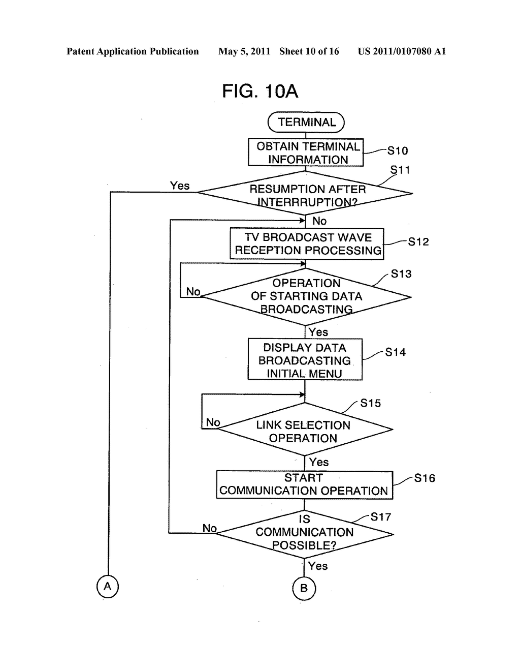 Data broadcasting system, server and program storage medium - diagram, schematic, and image 11