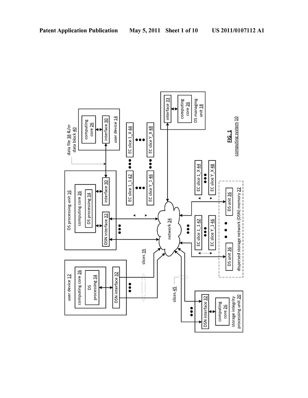 DISTRIBUTED STORAGE NETWORK AND METHOD FOR ENCRYPTING AND DECRYPTING DATA USING HASH FUNCTIONS - diagram, schematic, and image 02