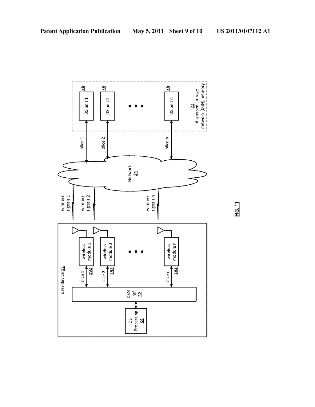 DISTRIBUTED STORAGE NETWORK AND METHOD FOR ENCRYPTING AND DECRYPTING DATA USING HASH FUNCTIONS - diagram, schematic, and image 10
