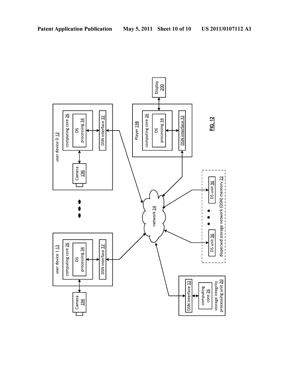 DISTRIBUTED STORAGE NETWORK AND METHOD FOR ENCRYPTING AND DECRYPTING DATA USING HASH FUNCTIONS - diagram, schematic, and image 11