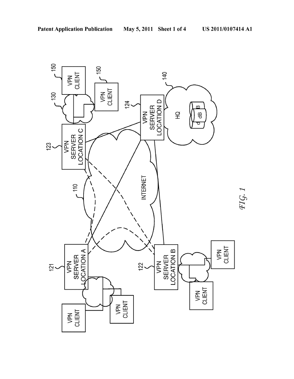 System and Method for Location Assisted Virtual Private Networks - diagram, schematic, and image 02