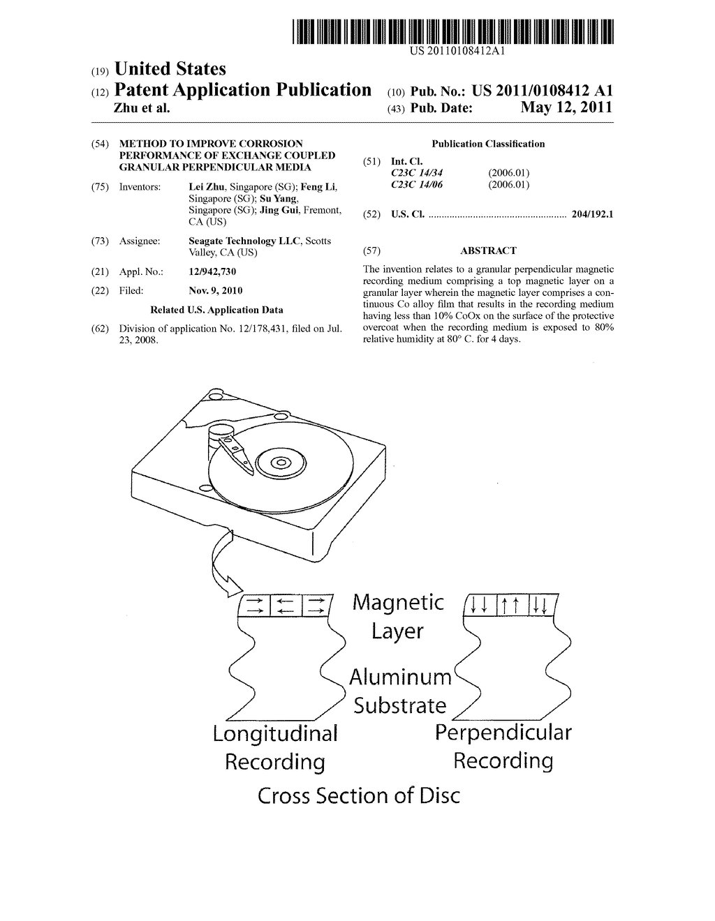 Method to Improve Corrosion Performance of Exchange Coupled Granular Perpendicular Media - diagram, schematic, and image 01