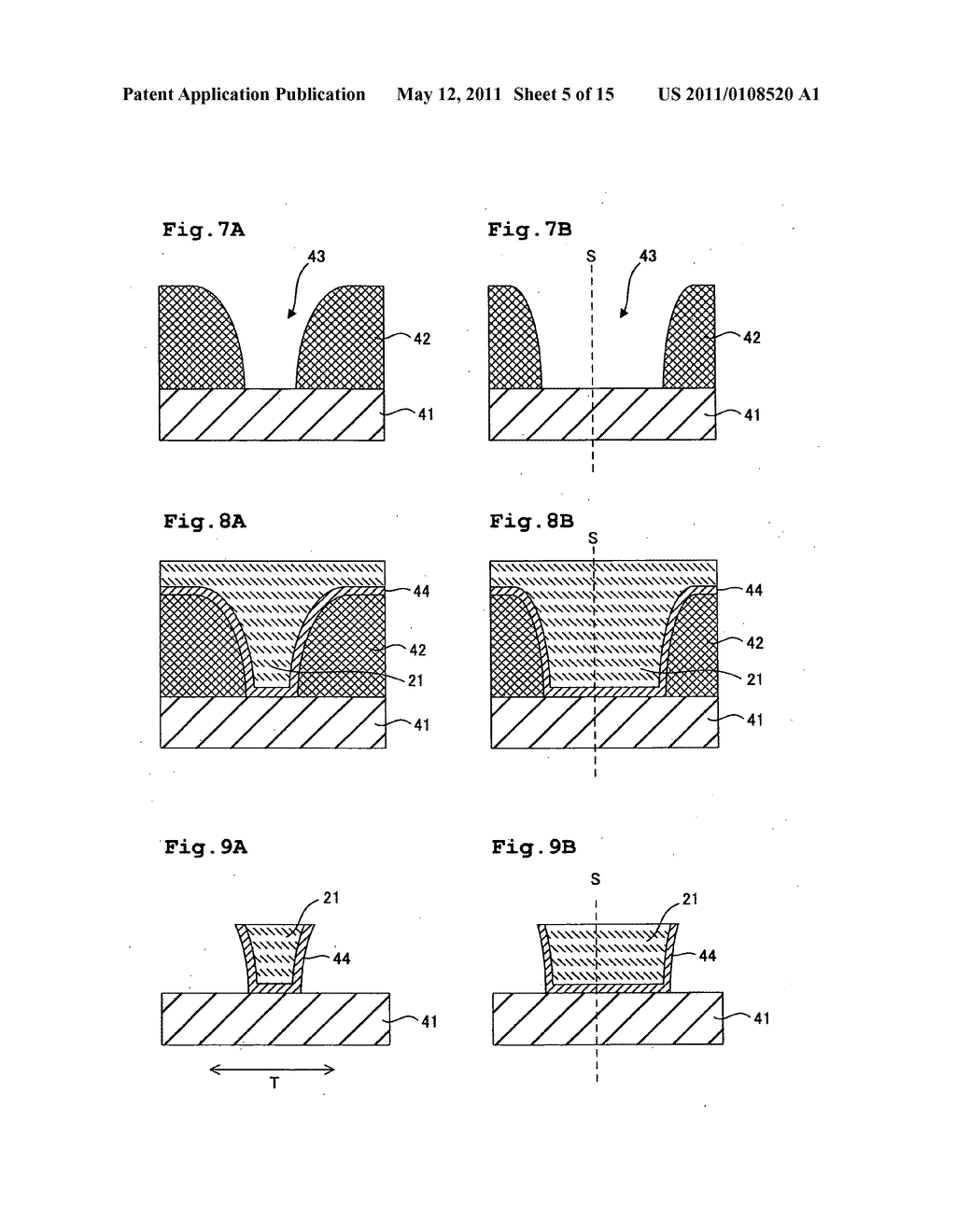 Method for manufacturing perpendicular magnetic head including a main pole surrounded by shield layers - diagram, schematic, and image 06