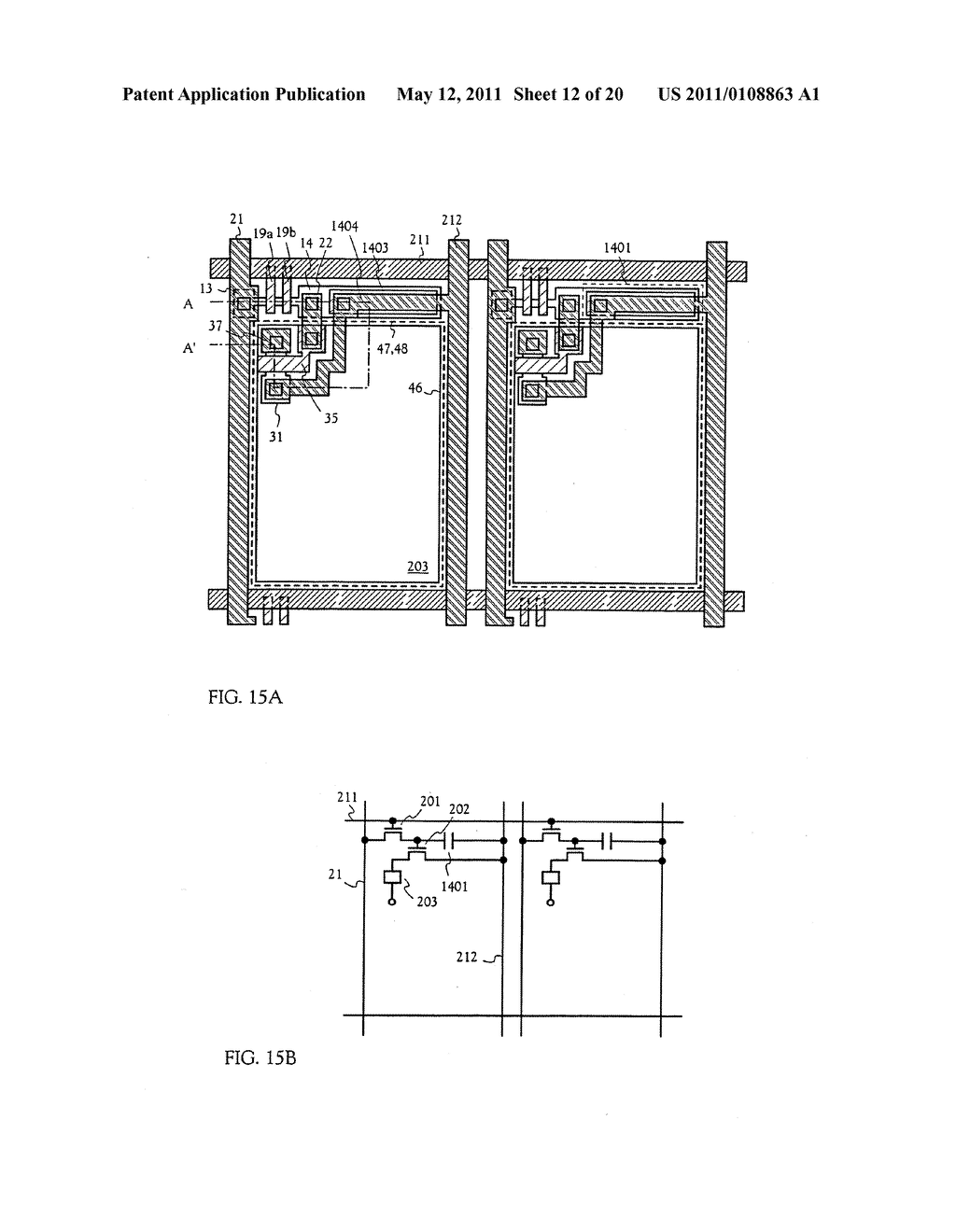 METHOD FOR MANUFACTURING AN ELECTRO-OPTICAL DEVICE - diagram, schematic, and image 13