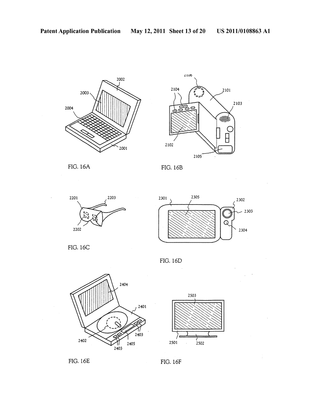 METHOD FOR MANUFACTURING AN ELECTRO-OPTICAL DEVICE - diagram, schematic, and image 14