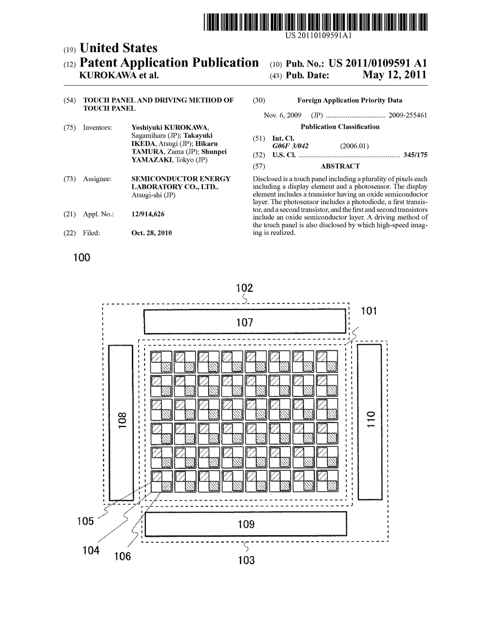 TOUCH PANEL AND DRIVING METHOD OF TOUCH PANEL - diagram, schematic, and image 01